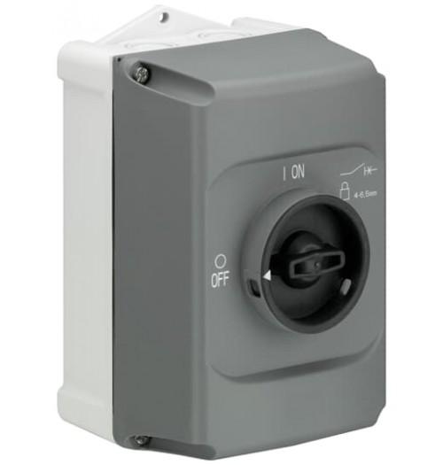 Hermetinė dėžutė MS116 el. variklio paleidimo automatiniam jungikliui IB132-G, IP65