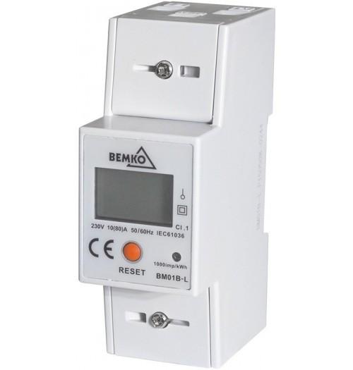 Modulinis elektros energijos skaitiklis BEMKO A30-BM01B-L 1F 10(80)A