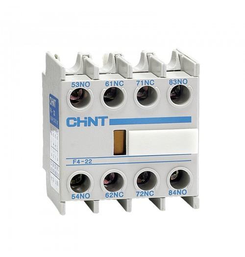 Papildomas kontaktas (viršutinis) NC1/NC2 kontaktoriams Chint F422 (2NO+2NC)