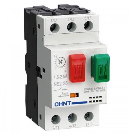 Elektros variklio paleidimo automatinis jungiklis NS2-25 1.0-1.6A