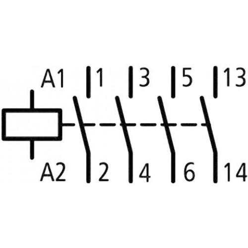 Modulinis kontaktorius Z-SCH 230/25-40 25A 4NO (230V AC ritė)
