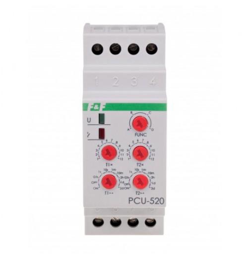 Multifunkcinė ciklinė relė DIN mont. F&F PCU-520