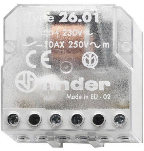 Elektromagnetinė relė bistabili FINDER 230V AC 10A 26.01.8.230.0000