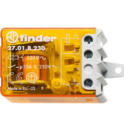 Elektromagnetinė relė bistabili FINDER 230V AC 10A 27.01.8.230.0000