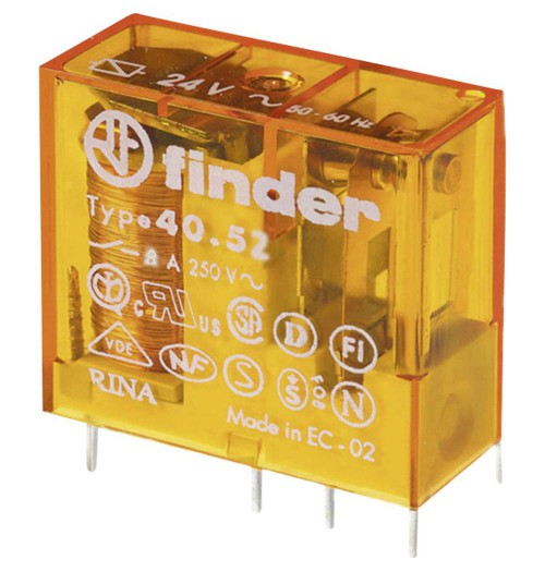Elektromagnetinė relė FINDER 12V AC 2 porų kont. 40.52