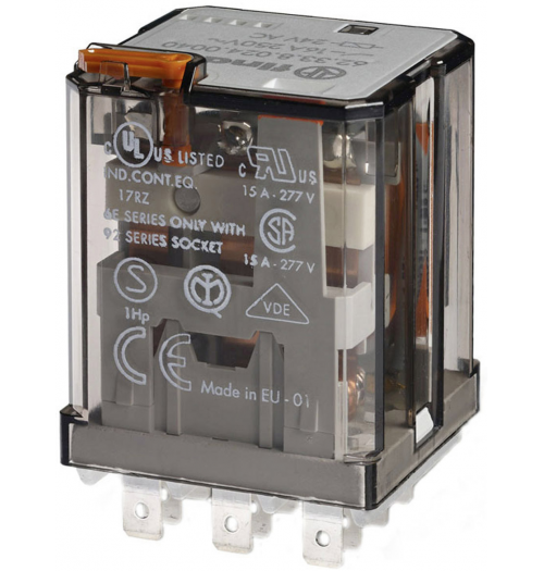 Elektromagnetinė relė FINDER 24V AC 7A 55.34.8.024.0040