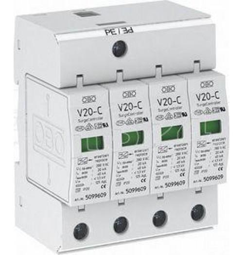 Viršįtampių ribotuvas 4P C (T1) OBO V20-C 4-280