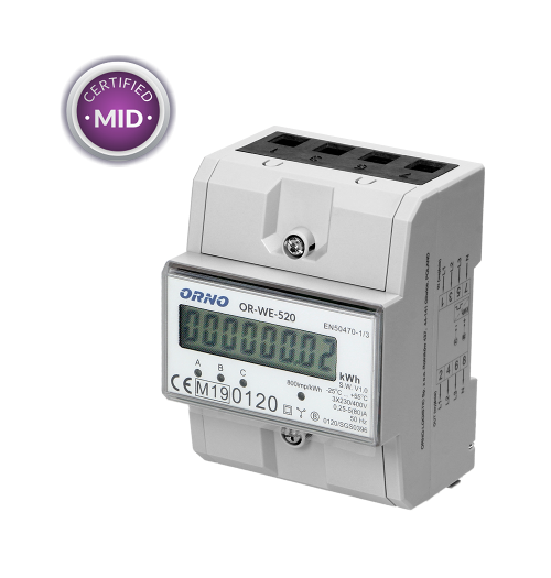 Modulinis elektros energijos skaitiklis ORNO OR-WE-520