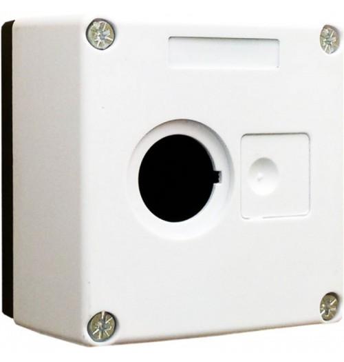 Valdymo posto dėžutė 1 vietos balta Promfactor Baltic VALD-1W