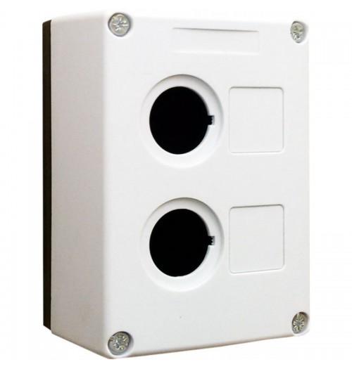 Valdymo posto dėžutė 2 vietų balta Promfactor Baltic VALD-2W