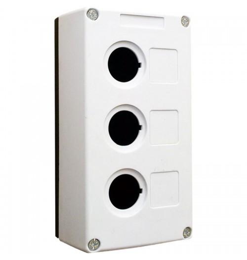 Valdymo posto dėžutė 3 vietų balta Promfactor Baltic VALD-3W