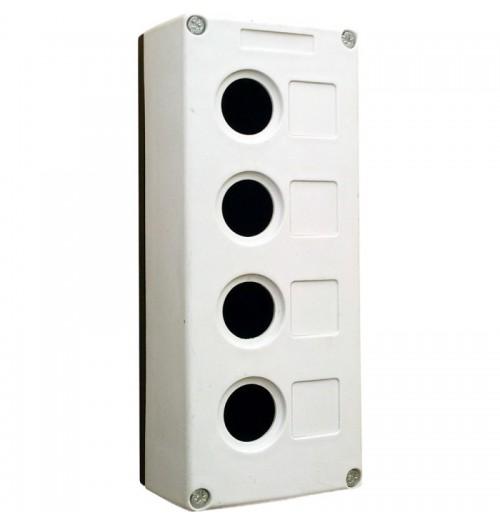 Valdymo posto dėžutė 4 vietų balta Promfactor Baltic VALD-4W