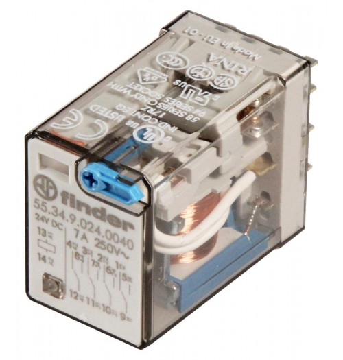 Elektromagnetinė relė FINDER 24V DC 7A 55.34.9.024.0040