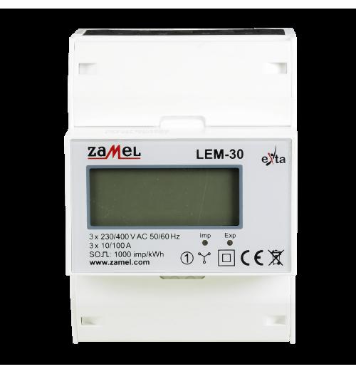 Modulinis elektros energijos skaitiklis ZAMEL LEM-30 3F 10(100)A