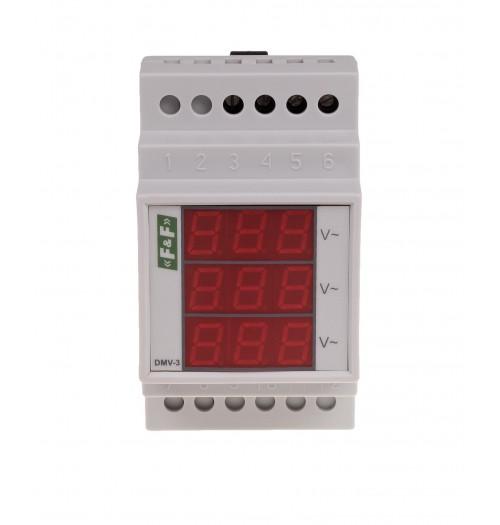 Įtampos indikatorius F&F DMV-3 3F (3x100-265 V AC)
