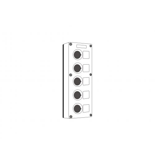 Valdymo posto dėžutė 5 vietų balta Promfactor Baltic VALD-5W