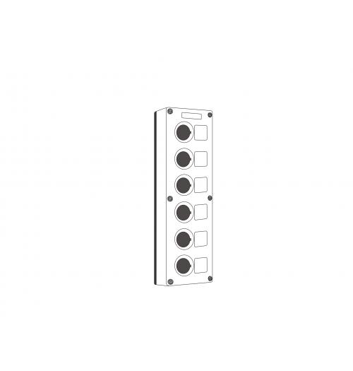 Valdymo posto dėžutė 6 vietų balta Promfactor Baltic VALD-6W