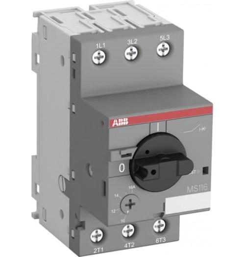 Elektros variklio paleidimo automatinis jungiklis MS116-1.0 0.63-1A (0.25kW varikliui)
