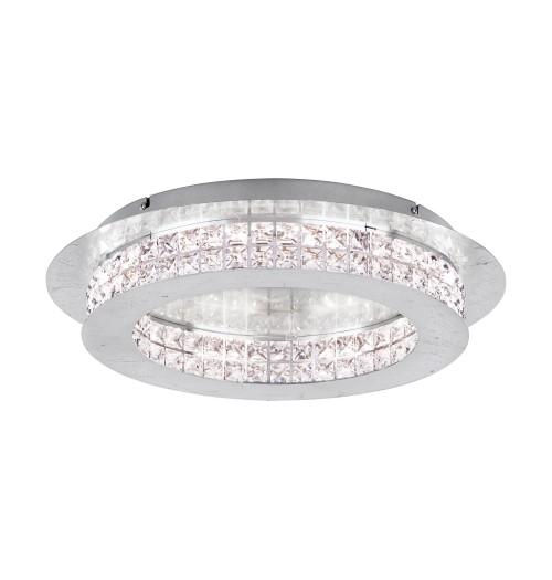 Šviestuvas EGLO PRINCIPE LED 31.5W 3000K 3800lm D500 (sidabro sp. pagrindas)
