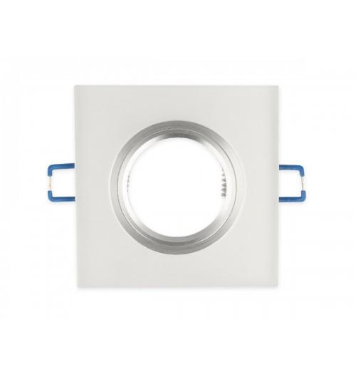 Įleidžiamas šviestuvas 1xGU10 LEDLINE GLIKKA 241338 šlifuotas baltas stiklas