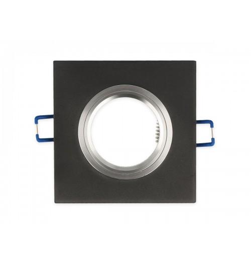 Įleidžiamas šviestuvas 1xGU10 LEDLINE GLIKKA 241345 šlifuotas juodas stiklas