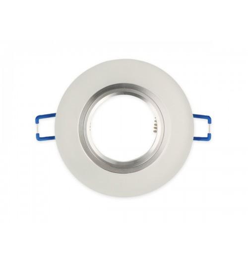 Įleidžiamas šviestuvas 1xGU10 LEDLINE GLIKKA 241413 šlifuotas baltas stiklas