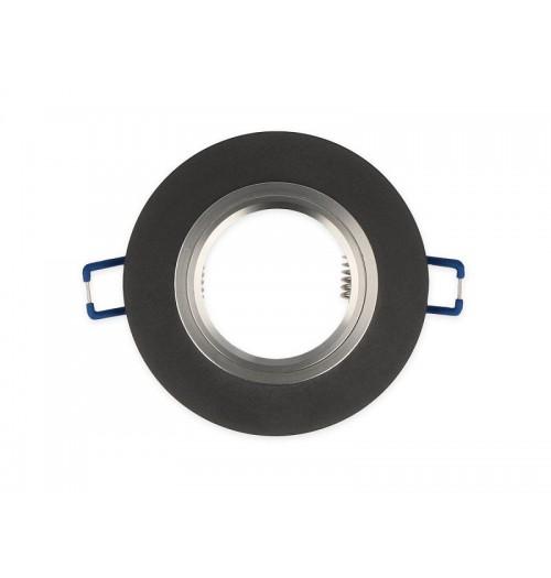 Įleidžiamas šviestuvas 1xGU10 LEDLINE GLIKKA 241420 šlifuotas juodas stiklas