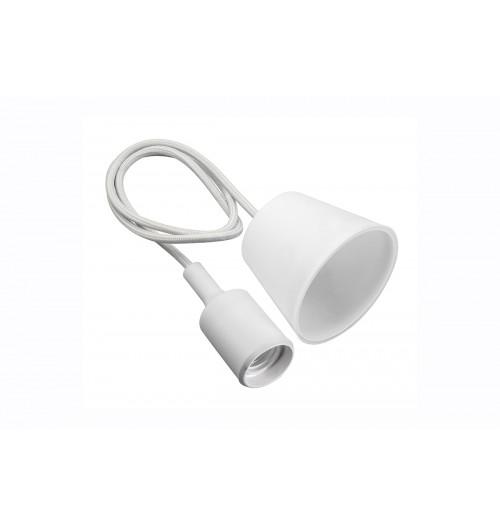 Silikoninis lempos lizdas su kabeliu GTV MINIO baltas 1xE27