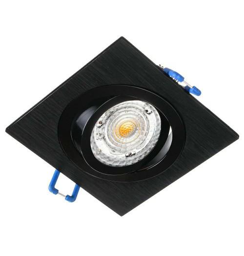 Įleidžiamas šviestuvas 1xGU10 JOTA K/1 šlifuotas juodas pagrindas / blizgus juodas žiedelis