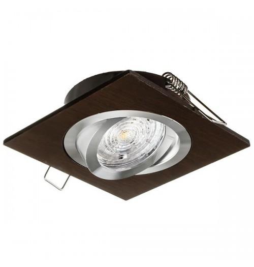 Įleidžiamas šviestuvas 1xGU10 JOTA K/1 medžio imitacijos pagrindas / aliuminio sp. žiedelis