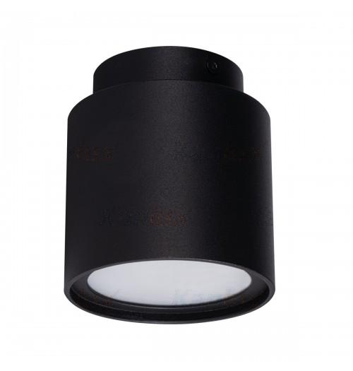 Akcentinis šviestuvas Kanlux Sonor 1xGU10, juodas (su LED 4W 3000K šviečiančiu pagrindu)