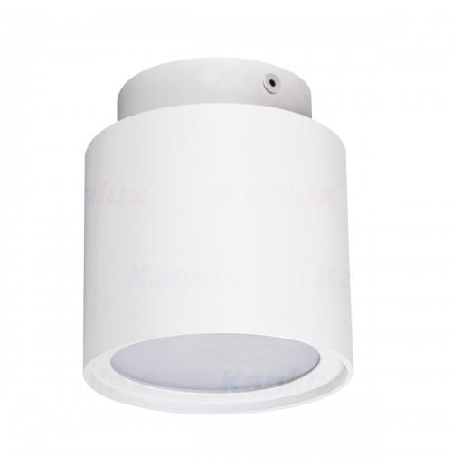 Akcentinis šviestuvas Kanlux Sonor 1xGU10, baltas (su LED 4W 3000K šviečiančiu pagrindu)
