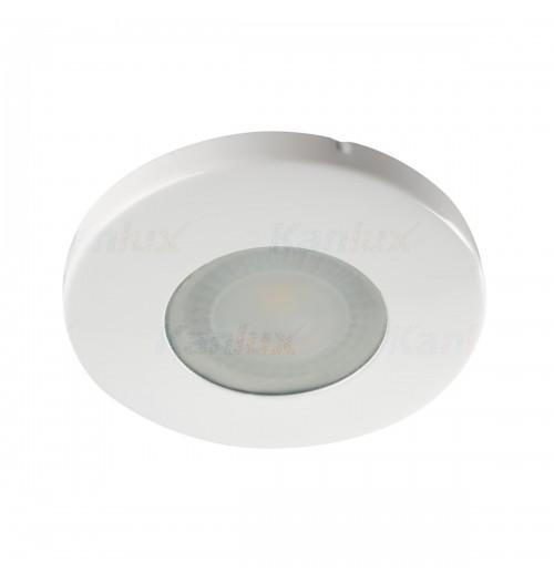 Įleidžiamas šviestuvas 1xGU10 Kanlux MARIN, baltos sp., IP44