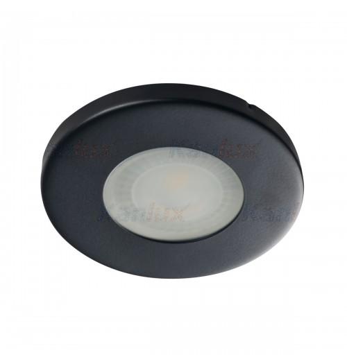 Įleidžiamas šviestuvas 1xGU10 Kanlux MARIN, juodos sp., IP44