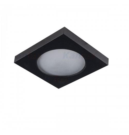 Įleidžiamas šviestuvas 1xGU10 Kanlux FLINI juodos sp., kvadratinis, IP44