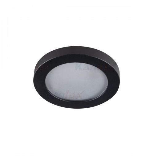 Įleidžiamas šviestuvas 1xGU10 Kanlux FLINI juodos sp., apvalus, IP44