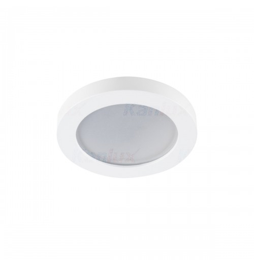 Įleidžiamas šviestuvas 1xGU10 Kanlux FLINI baltos sp., apvalus, IP44