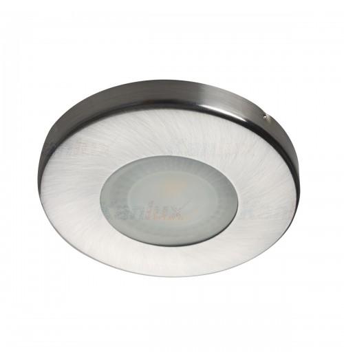 Įleidžiamas šviestuvas 1xGU10 Kanlux MARIN, matinio chromo sp., IP44
