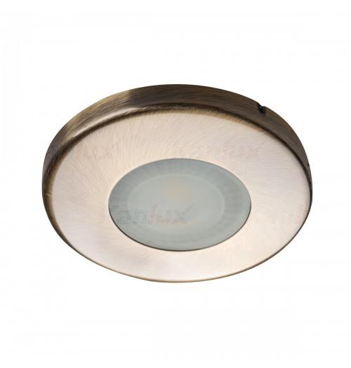 Įleidžiamas šviestuvas 1xGU10 Kanlux MARIN, žalvario sp., IP44