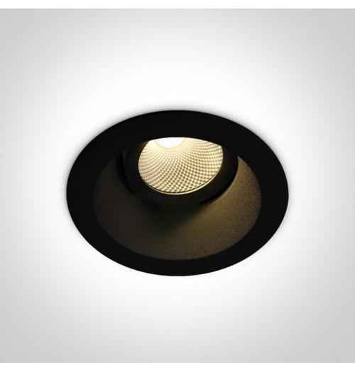 Įleidžiamas akcentinis šviestuvas Onelight DARK LED 7W 3000K 560lm, juodas