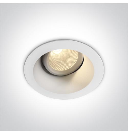 Įleidžiamas akcentinis šviestuvas Onelight DARK LED 7W 3000K 560lm, baltas