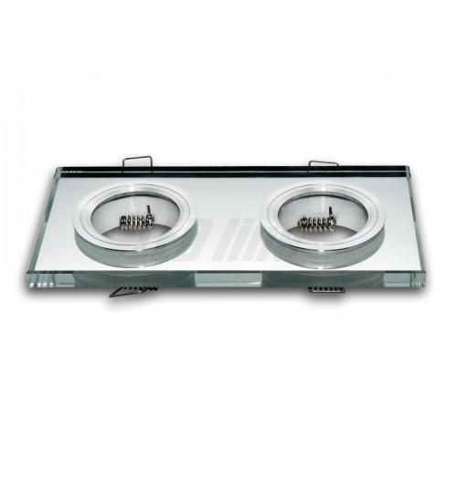 Įleidžiamas šviestuvas 2xGU10 skaidrus stiklas 89x178x10 mm LEDLINE 246401