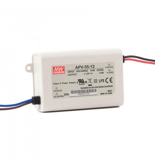 Maitinimo šaltinis APV-35-12 12V 3.0A IP42 MEANWELL