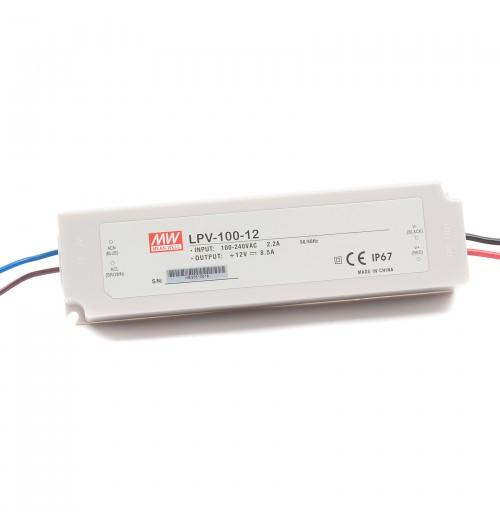 Maitinimo šaltinis LPV-100-12 12V 8.5A IP67 MEANWELL