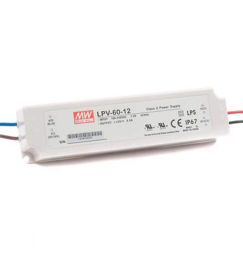 Maitinimo šaltinis LPV-60-12 12V 5A IP67 MEANWELL