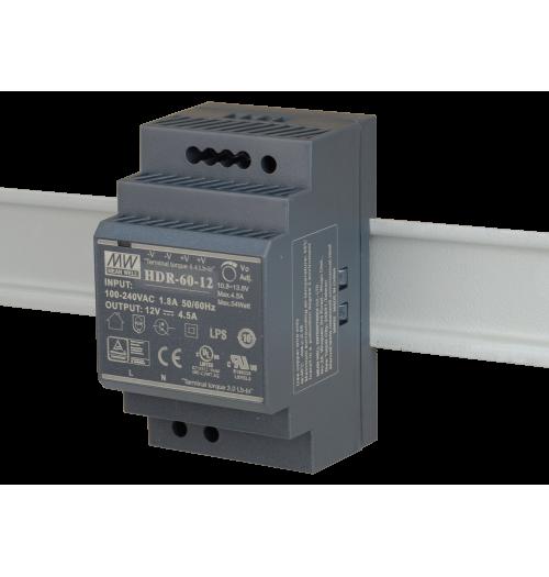 Maitinimo šaltinis HDR-60-12 12V 4.5A MEANWELL