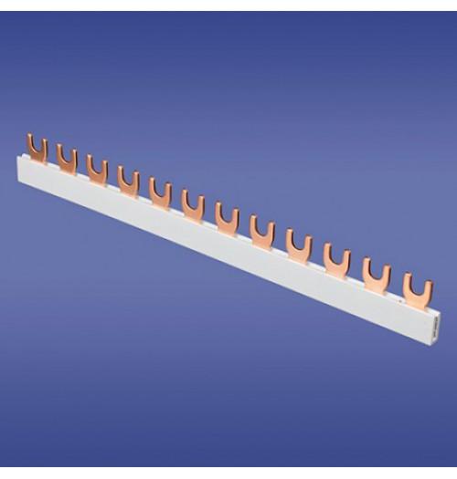 Šakutės tipo srovėlaidis 1F 12mm² 12 mod. Elektroplast