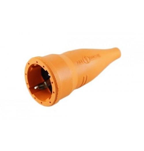 Kištukinis lizdas gumuotas su įž. oranžinis ABL