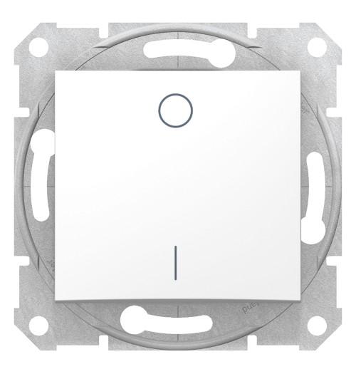 1 kl. 2 polių jungiklis Schneider Sedna baltas SDN0200121