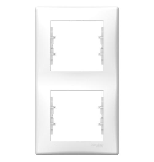 Rėmelis 2 v. vertikalus Schneider Sedna baltas SDN5801121